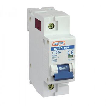 Автоматический выключатель ВА47-100 1P 100А (С) 10кА