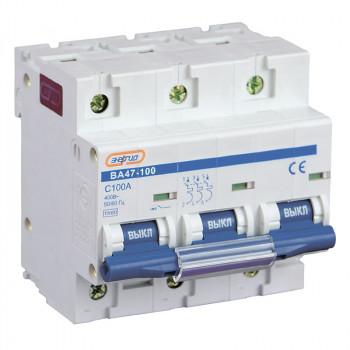 Автоматический выключатель ВА47-100 3P 100А (С) 10кА