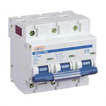 Автоматический выключатель ВА47-100 3P 125А (С) 10кА