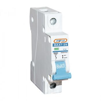 Автоматический выключатель ВА47-29 1P 6А (С) 6кА