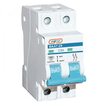 Автоматический выключатель ВА47-29 2P 50А (С) 4,5кА