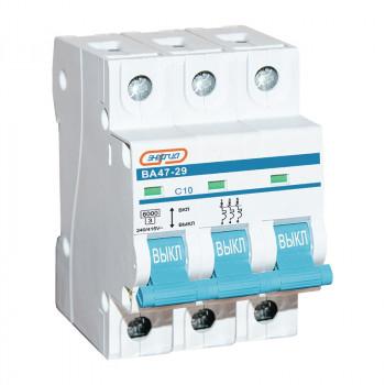 Автоматический выключатель ВА47-29 3P 10А (С) 6кА