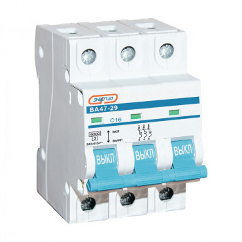 Автоматический выключатель ВА47-29 3P 16А (С) 6кА