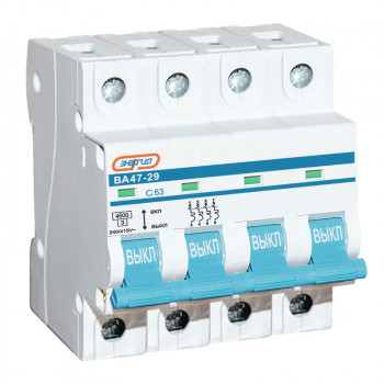 Автоматический выключатель ВА47-29 4P 63А (С) 4,5кА