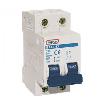 Автоматический выключатель ВА47-63 2P 10A
