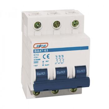 Автоматический выключатель ВА 47-63 3P 10A