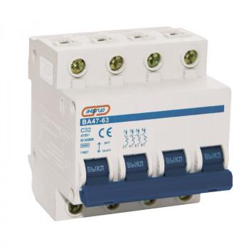 Автоматический выключатель ВА 47-63 4P 25A