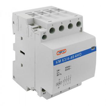 Модульный контактор КМ63/4P 40A 4НО