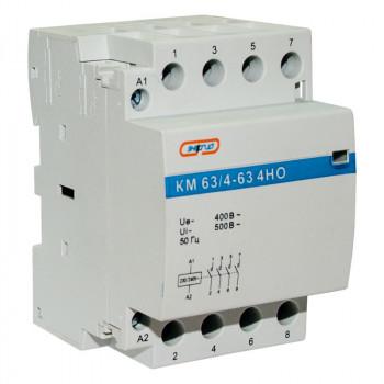 Модульный контактор КМ63/4P 63A 4НО