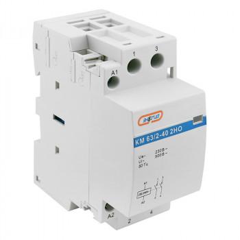 Модульный контактор КМ63/2P 40A 2HO (LCH8)