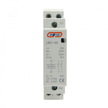 Модульный контактор LNC1 2P 20A