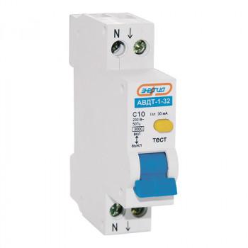 Дифференциальный автомат АВДТ-1-32 1P+N 10А (С) 30мА (AC) 3кА 1 мод.