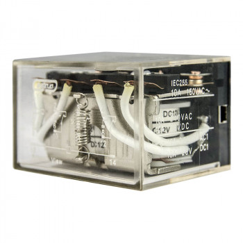 Реле промежуточное LY-4 10А 12DC 4пк