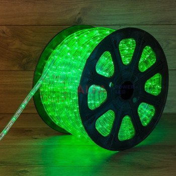 Дюралайт LED, свечение с динамикой (3W) - мульти (RYGB), 36 LED/м, бухта 100м