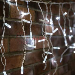 Гирлянда Айсикл (бахрома) светодиодный, 4,8 х 0,6 м, эффект мерцания , 220 В, диоды белые, 176 LED