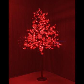 """Светодиодное дерево """"Клён"""", высота 2,1м, диаметр кроны 1,8м, красные светодиоды, IP 65"""
