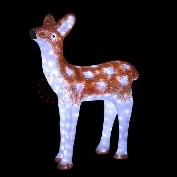 """Светодиодная фигура """"Оленёнок коричневый"""" 81х56см, 800 светодиодов, IP65"""