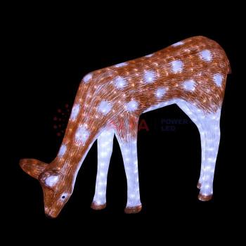 """Светодиодная фигура """"Олень мама коричневая"""" 100х130см, 2850 светодиодов IP44"""