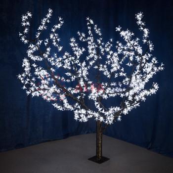 """Светодиодное дерево """"Сакура"""" высота 1,5м, диаметр кроны 1,8м, белые светодиоды, IP 54"""