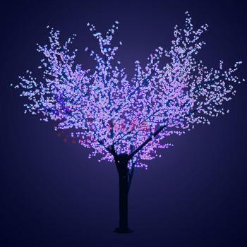 """Светодиодное дерево """"Сакура"""", высота 2,4м, диаметр кроны 2,0м, синие светодиоды, IP 64"""