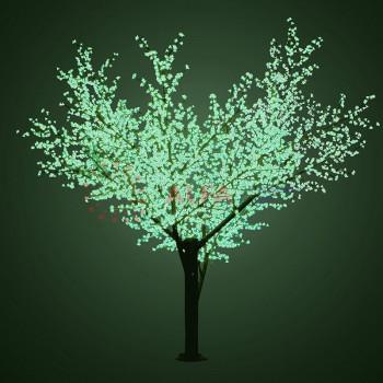 """Светодиодное дерево """"Сакура"""", высота 3,6м, диаметр кроны 3,0м, зеленые светодиоды, IP 54"""