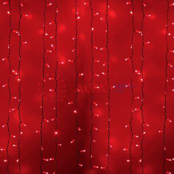 """""""Светодиодный Дождь"""" 2x1,5м, 230 В, диоды красный, 360 LED"""