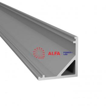 Анодированный алюминиевый профиль 1616 угловой
