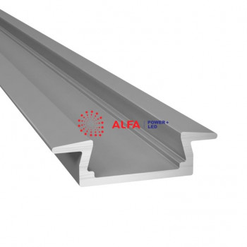 Анодированный алюминиевый профиль 31549 встраиваемый