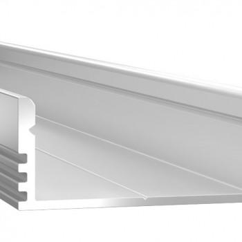 Анодированный алюминиевый профиль 1228 накладной