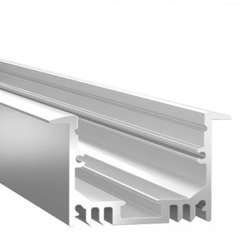 Анодированный алюминиевый профиль 2544 встраиваемый